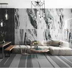 陶瓷大板 | 海市蜃楼(黑白)
